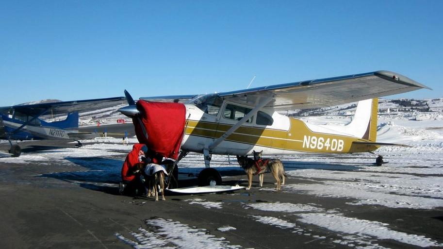 Am Flughafen in Unalakleet