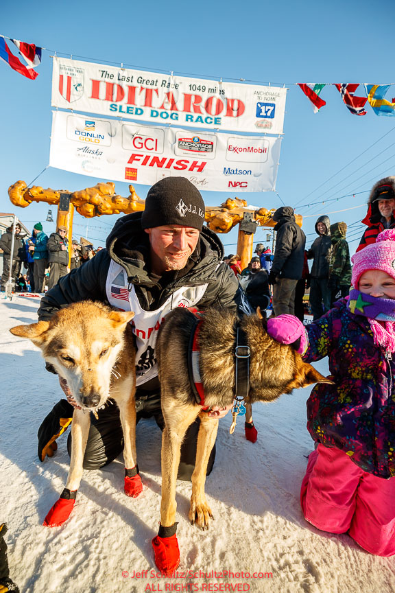 Dallas Seavey in Nome beim Iditarod 2017